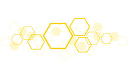 Hexagon bee hive design art and space background. Vector EPS10 royalty free illustration