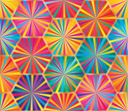 Hexagon Big Ray Colorful Seamless Pattern Royalty Free Stock Image
