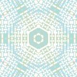 Hexagon blauwgroene patroon witte pastelkleur Royalty-vrije Stock Fotografie