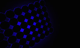 Hexagon blue backlight Stock Photos