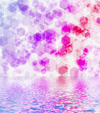 Hexagon bokeh background. Stock Image
