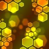 Hexagon bokeh wallpaper. Colorful hexagon bee bokeh wallpaper Stock Photos