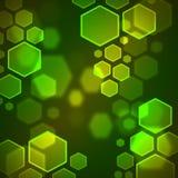 Hexagon bokeh wallpaper. Colorful hexagon bee bokeh wallpaper Royalty Free Stock Photo