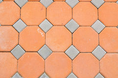 Hexagon brick block Royalty Free Stock Image