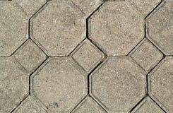 Hexagon brick Stock Photo