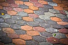 Hexagon bricks Stock Image
