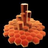Hexagon building Stock Images