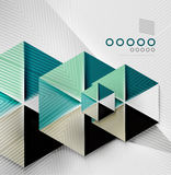 Hexagon business paper geometric shape Royalty Free Stock Photography