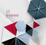Hexagon business paper geometric shape Royalty Free Stock Images