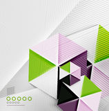 Hexagon business paper geometric shape Royalty Free Stock Image