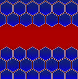 Hexagon cell background Royalty Free Stock Photography