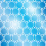 Hexagon cell background Royalty Free Stock Photos