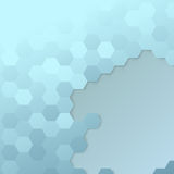 Hexagon cell template - modern background Stock Photo