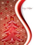 Hexagon Christmas card Royalty Free Stock Photography
