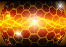 Hexagon circle and light abstract vector background Stock Photography