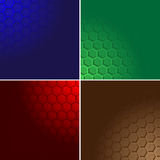Hexagon color background Stock Images