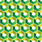Hexagon with color triangles. Abstract seamless background. Vector illustration. Colorful polygon style with triangular geometric Stock Photography