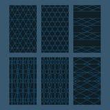 Hexagon combine set seamless pattern Royalty Free Stock Photo
