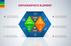 Hexagon 3D Modern digital template vector  banner infographics. Stock Photos
