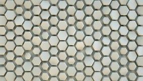 Hexagon 3D patroonsamenvatting geeft terug vector illustratie