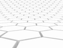 Hexagon 3d pattern. White 3d render illustration Royalty Free Stock Photos