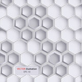 Hexagon design background Stock Photography