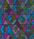 Hexagon different match seamless pattern Stock Photography