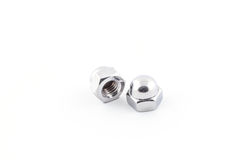 Hexagon domed cap nuts. Royalty Free Stock Photography
