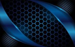 Hexagon donkerblauwe abstracte achtergrond vector illustratie