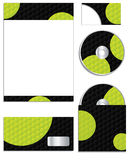Hexagon dots business set Stock Photos
