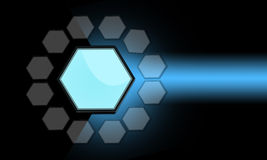 Hexagon. Draw hexagon abstract background light blue color Royalty Free Stock Photo