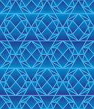 Hexagon 6 draw diamond blue seamless pattern Royalty Free Stock Image