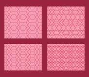 Hexagon dubbel reeks naadloos patroon Stock Afbeelding