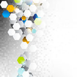 Hexagon elements background Stock Photography