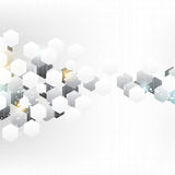 Hexagon elements background Stock Photos