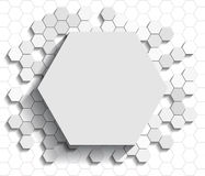 Hexagon flat background Stock Images