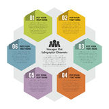 Hexagon Flat Infographic Element Royalty Free Stock Image