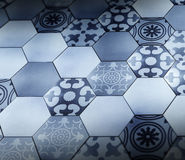 Hexagon floor with Provence pattern texture Stock Image