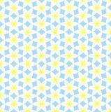 Hexagon flower seamless pattern Stock Photos