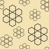 Hexagon flowers pattern seamless vector Royalty Free Stock Photos