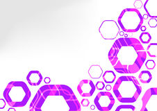 Hexagon futuristic background abstraction Royalty Free Stock Photography