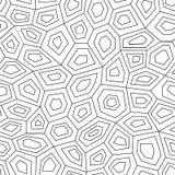 Hexagon geometric seamless pattern. Royalty Free Stock Photo
