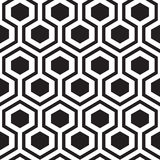 Hexagon geometric seamless pattern. Geometric hexagon seamless ornament. Abstract background. Vector Illustration Stock Photo
