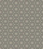Hexagon geometric seamless pattern Stock Photos
