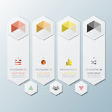 Hexagon Geometric Shape Business Infographic. Design Template Royalty Free Stock Images