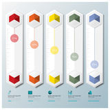 Hexagon Geometric Shape Business Infographic Royalty Free Stock Image