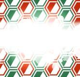 Hexagon geometrical background Stock Photography