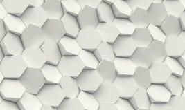 Hexagon geometrische achtergrond Stock Fotografie