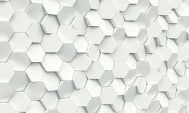 Hexagon geometrische achtergrond Stock Foto