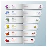 Hexagon-geometrische Form Infographic Lizenzfreie Stockbilder